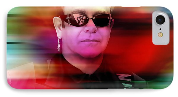 Elton John IPhone Case by Marvin Blaine