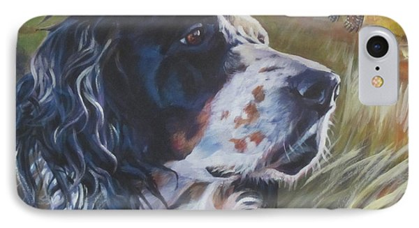 Pheasant iPhone 7 Case - English Setter by Lee Ann Shepard