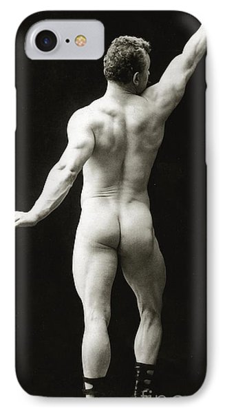 Eugen Sandow In Classical Ancient Greco Roman Pose Phone Case by American Photographer