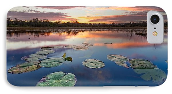Everglades At Sunset Phone Case by Debra and Dave Vanderlaan