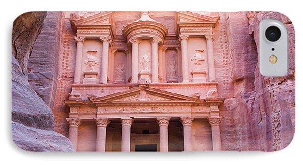 Facade Of Treasury (al Khazneh IPhone Case
