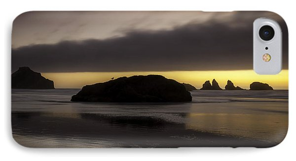 Face Rock Bandon By The Sea IPhone Case by Jean-Jacques Thebault
