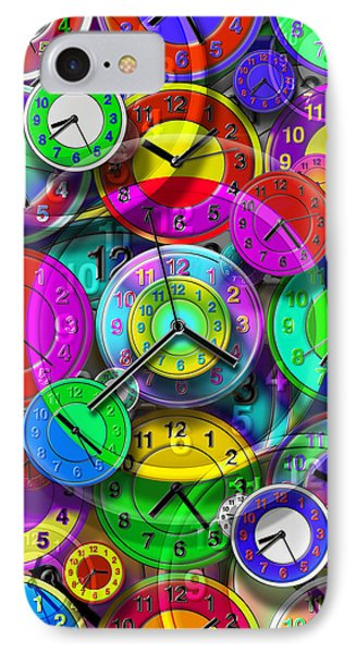 Faces Of Time 1 Phone Case by Mike McGlothlen