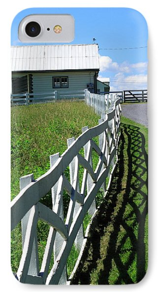 Farm And Fence Phone Case by Frank Romeo
