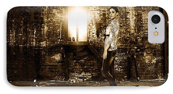 Fashion Model In Jeans  IPhone Case by Milan Karadzic