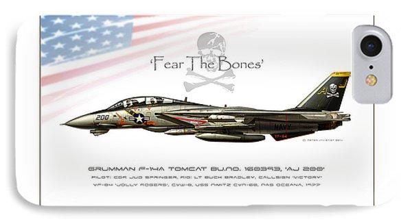 Fear The Bones IPhone Case by Peter Van Stigt