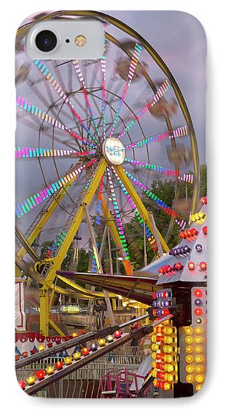 Ferris Wheel Fairground Ride IPhone Case by Jim West