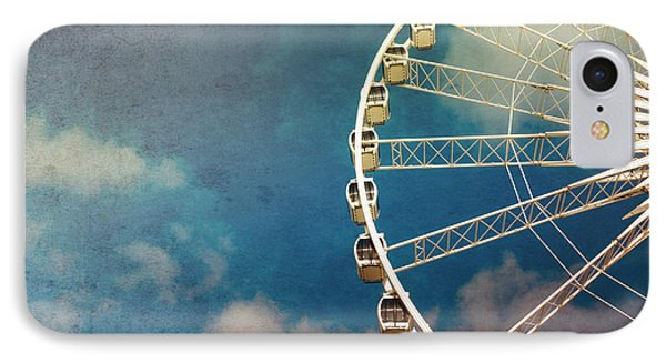 Ferris Wheel Retro Phone Case by Jane Rix