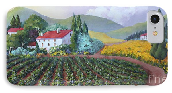 Fields Of Tuscany IPhone Case by Marta Styk
