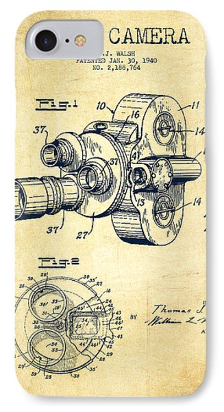 Film Camera Patent Drawing From 1938 IPhone Case
