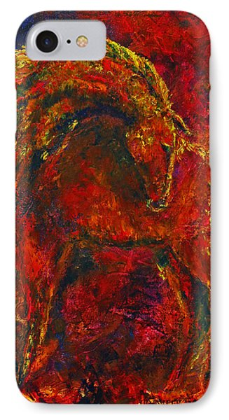 IPhone Case featuring the painting Fire Dance Horse II by Jennifer Godshalk