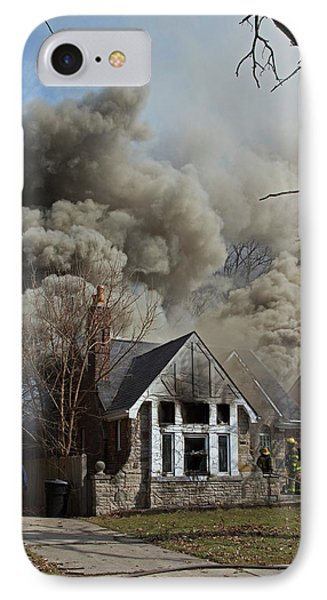 Firefighters Attending A House Fire IPhone Case