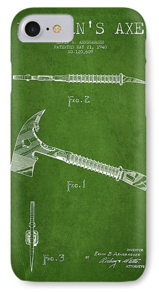 Fireman Axe Patent Drawing From 1940 IPhone Case