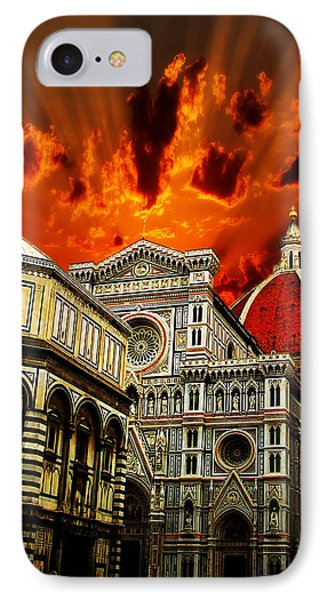 IPhone Case featuring the photograph Firenze La Cattedrale Di Santa Maria Del Fiore - Florence The Cathedral Of Santa Maria Del Fiore by Ze  Di