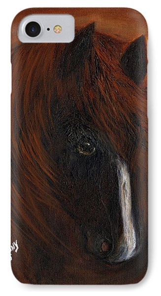 IPhone Case featuring the painting Firestorm by Barbie Batson