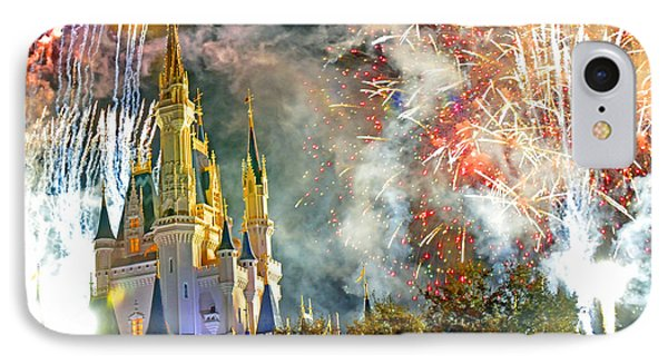 Fireworks Cinderellas Castle Walt Disney World IPhone Case by A Gurmankin