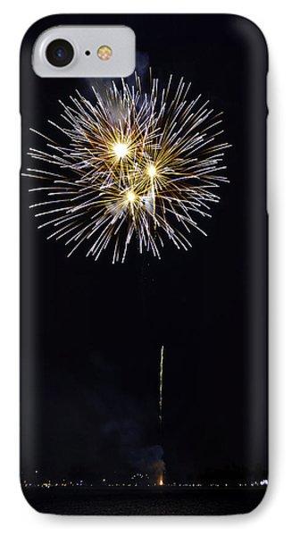 Fireworks Shell Burst Over The St Petersburg Pier Phone Case by Jay Droggitis