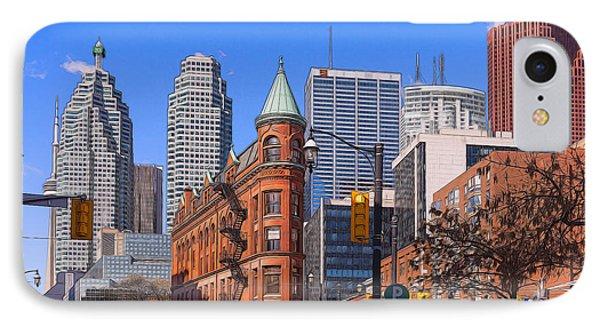 Flatiron Building In Toronto IPhone Case by Les Palenik