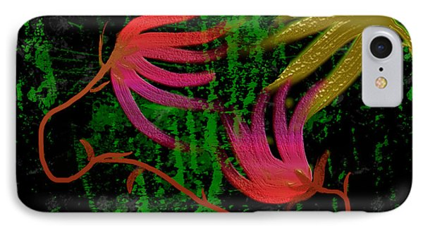 IPhone Case featuring the digital art Floral Fantasy by Asok Mukhopadhyay