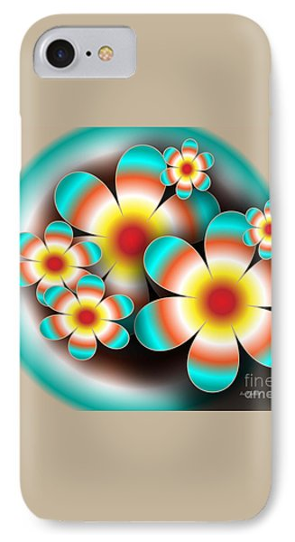 Floral Target Phone Case by Iris Gelbart