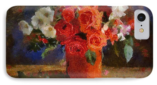 IPhone Case featuring the painting Flowers by Georgi Dimitrov