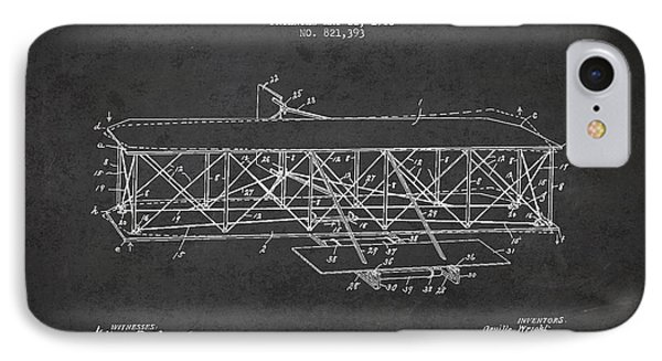 Flying Machine Patent Drawing From 1906 IPhone Case by Aged Pixel