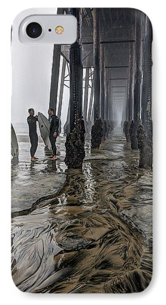 Fog At The Pier IPhone Case by Ann Patterson