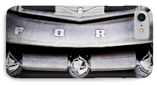 Ford F-1 Pickup Truck Grille Emblem IPhone Case by Jill Reger