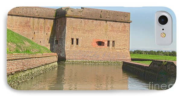 Fort Pulaski Moat System IPhone Case by D Wallace