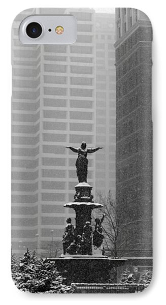 Fountain Square IPhone Case by Scott Meyer