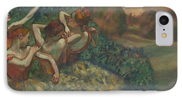 Four Dancers IPhone Case by Edgar Degas