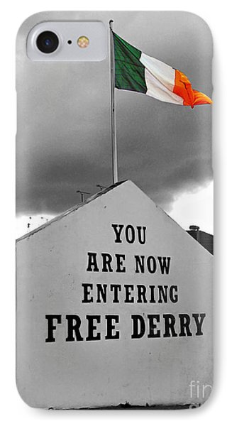 Free Derry Wall IPhone Case by Nina Ficur Feenan