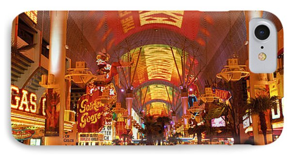 Fremont Street Experience Las Vegas Nv IPhone Case by Panoramic Images