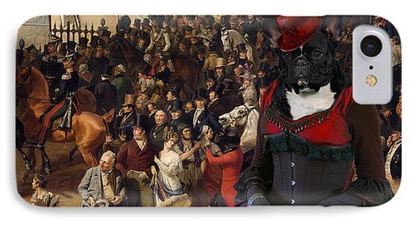 French Bulldog Art Canvas Print IPhone Case by Sandra Sij