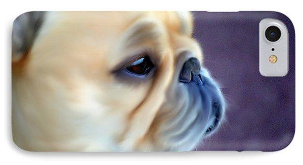 French Bulldog Head Study Phone Case by Barbara Chichester