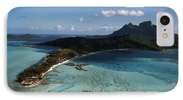 French Polynesia, Tahiti, Bora Bora IPhone Case by Douglas Peebles