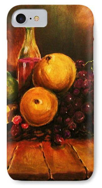 IPhone Case featuring the painting Fruit And Wine by Al Brown