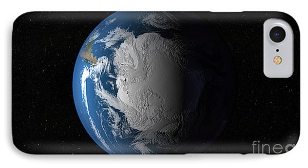 Ful Earth Showing Simulated Clouds Phone Case by Stocktrek Images
