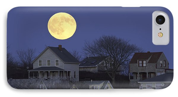 Full Moon Over Georgetown Island Maine IPhone Case