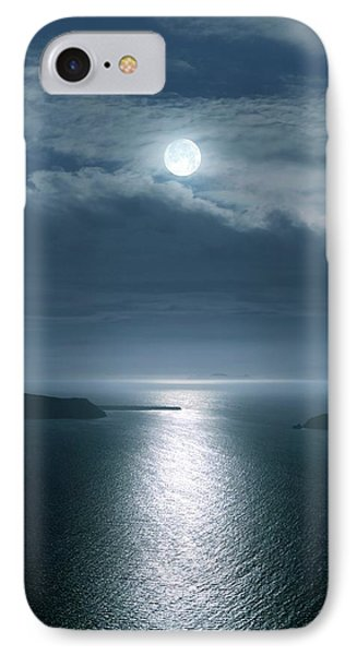 Full Moon Over The Sea IPhone Case by Detlev Van Ravenswaay