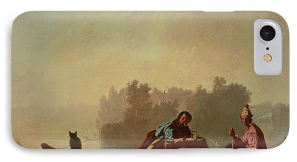 Fur Traders Descending The Missouri Phone Case by George Caleb Bingham