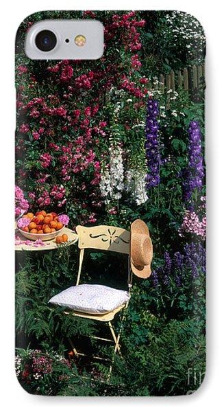 Garden With Chair Phone Case by Hans Reinhard
