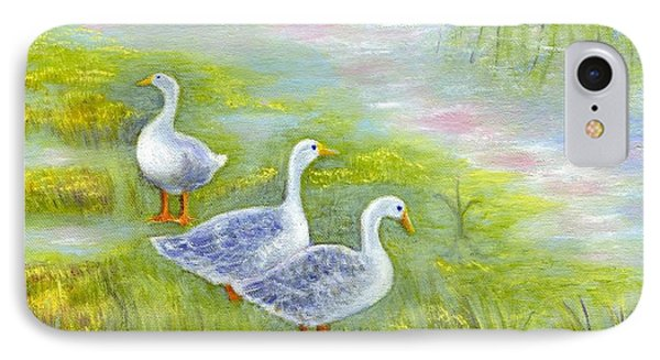 Geese At Sunset IPhone Case by Jeanne Kay Juhos