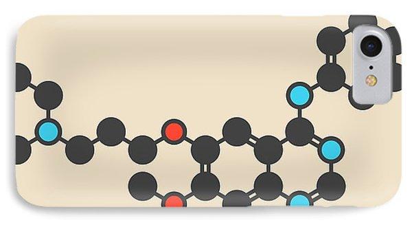 Gefinitib Cancer Drug Molecule IPhone Case by Molekuul