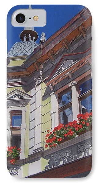 IPhone Case featuring the mixed media Geraniums by Constance Drescher