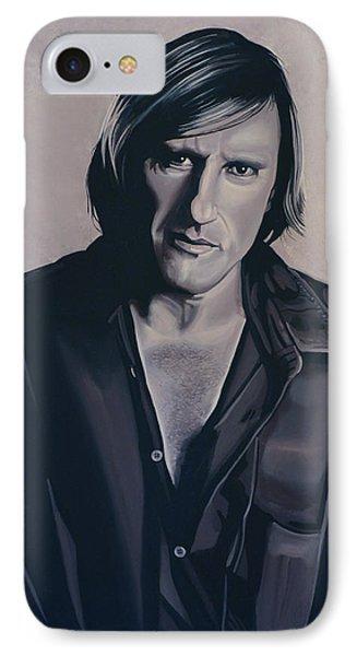 Gerard Depardieu Painting IPhone Case by Paul Meijering