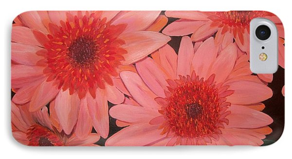 IPhone Case featuring the painting Gerber Daisies by Sharon Duguay