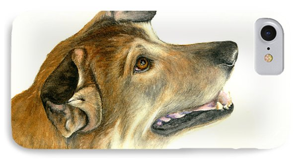 IPhone Case featuring the painting German Shepherd Dog by Nan Wright