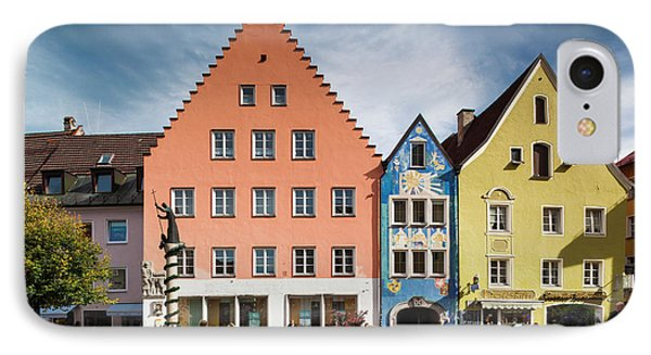 Germany, Bavaria, Fussen IPhone Case by Walter Bibikow