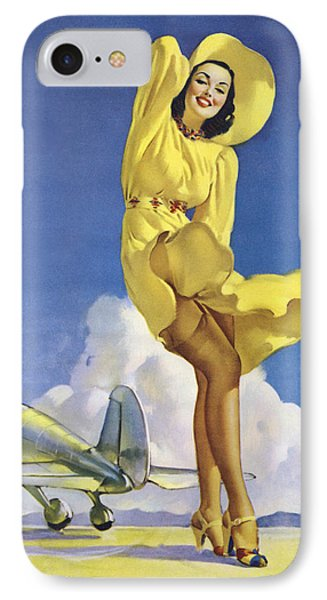 Gil Elvgren's Pin-up Girl IPhone Case by Gil Elvgren